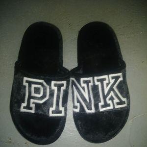 Victoria's Secret Pink Velour Slippers